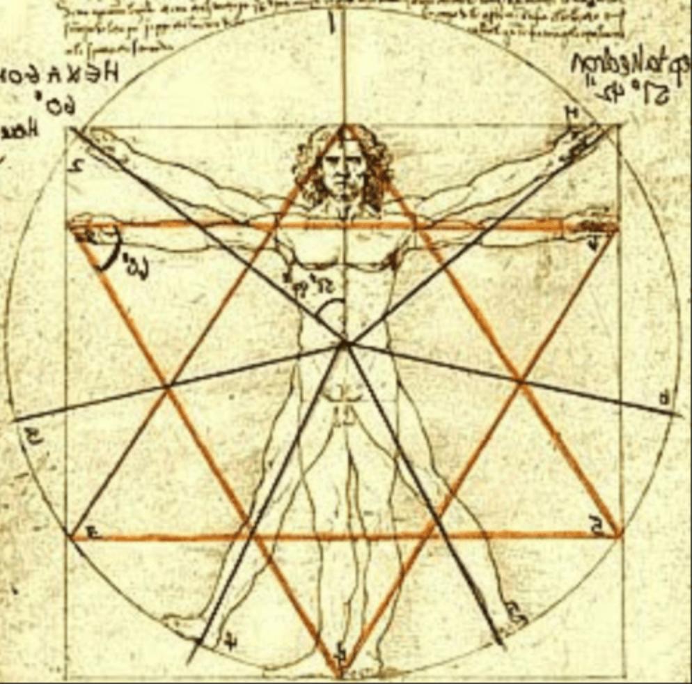 Da Vincis vitruvianischer Mensch