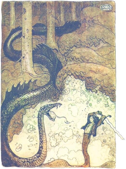 John Bauer: Georg und die Drachenschlange