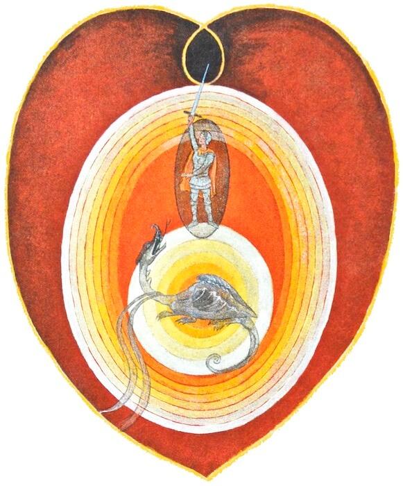 Hilma (Detail): Tötung des Drachens