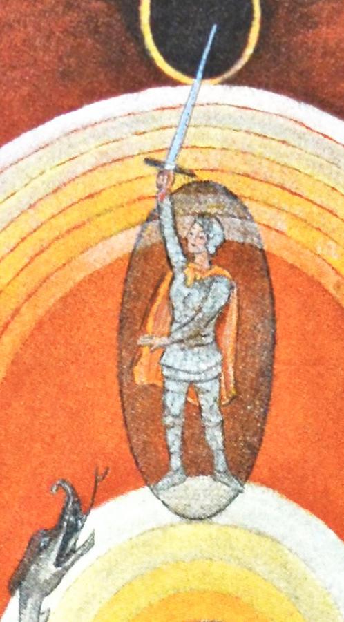Drachentöter (Hilma af Klint, Taube Nr. 8, Detail)