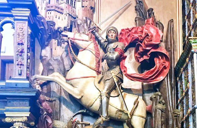 Der heilige Georg als Drachentöter, Artushof, Danzig