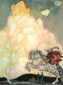 John Bauer, Die Burg in den rosigen Wolken