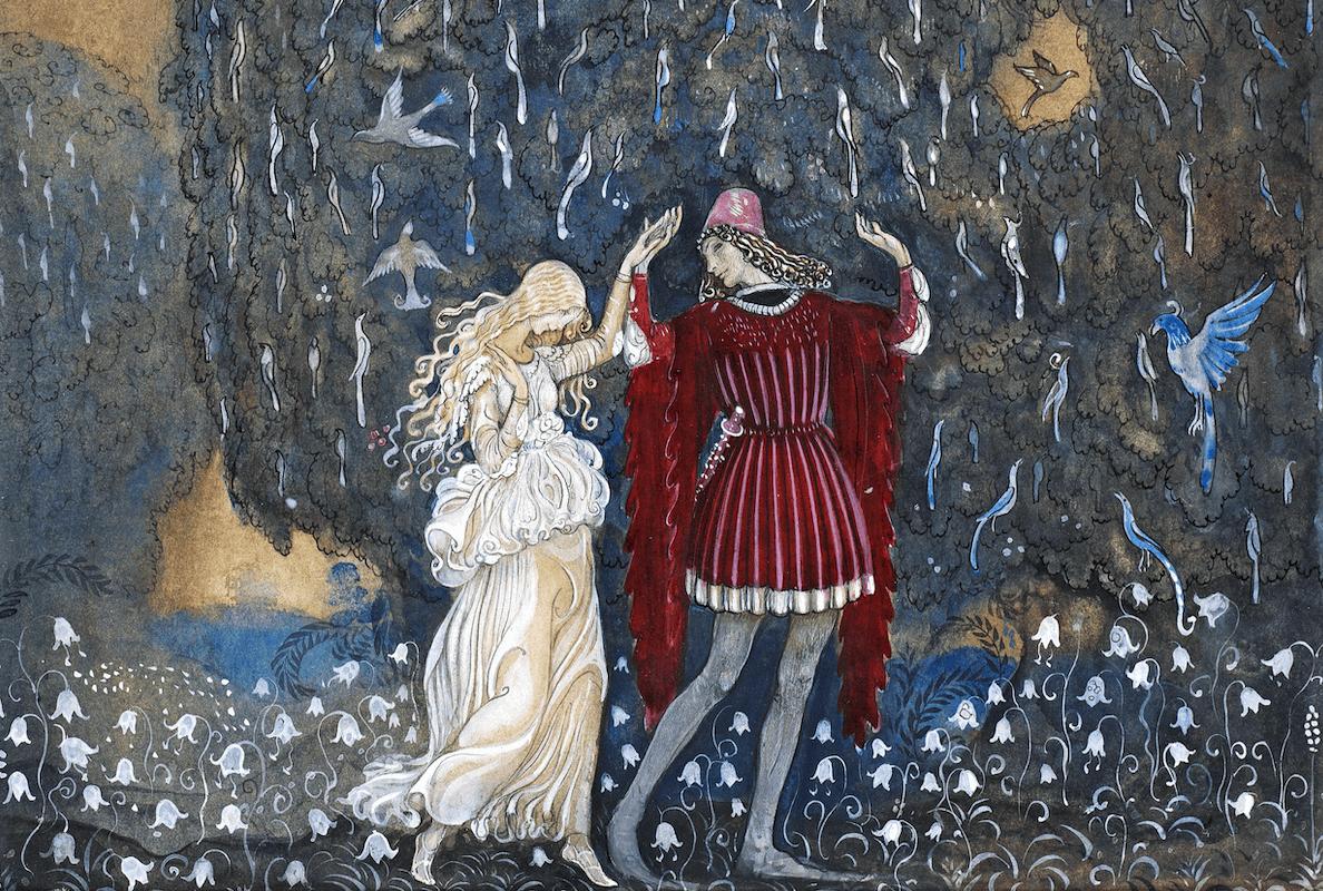 John Bauer: Lena und der Ritter (die Göttin und ihr Held)