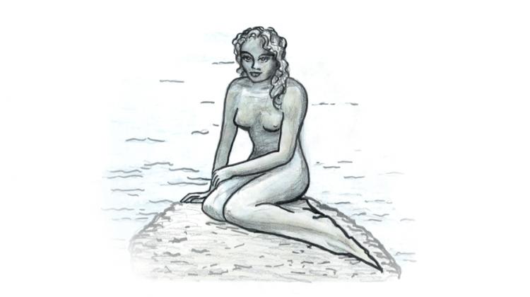 Meerjungfrau in Der Fischer von Goethe