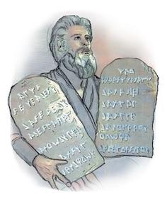 Mose mit den Steintafeln