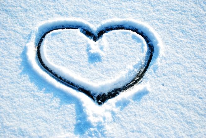 Herz im Schnee